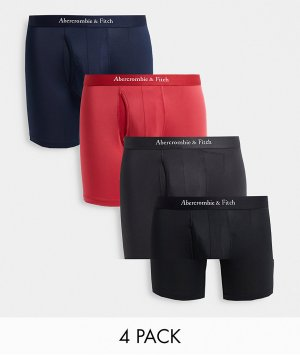 Набор из 4 боксеров-брифов черного, серого и розового цвета -Multi Abercrombie & Fitch