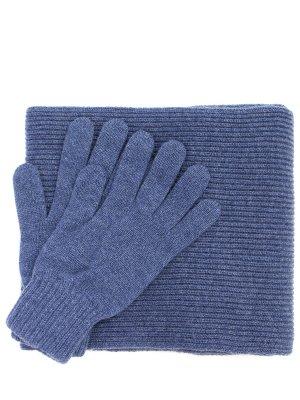 Комплект перчатки и шарф Johnstons. Цвет: разноцветный