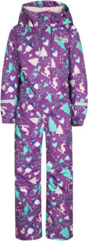 Комбинезон для девочек , размер 110 Glissade. Цвет: фиолетовый