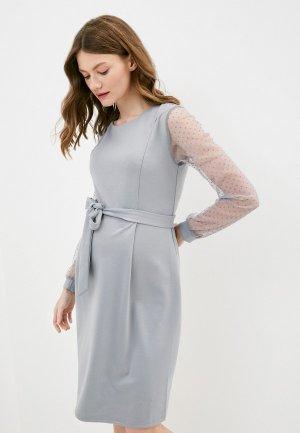 Платье Fest. Цвет: серый