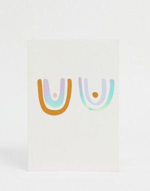 Разноцветный блокнот из переработанной бумаги -Мульти Monki