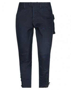 Джинсовые брюки-капри DSQUARED2. Цвет: темно-синий