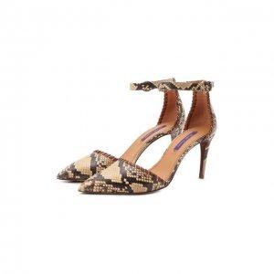 Кожаные туфли Claryn Ralph Lauren. Цвет: коричневый