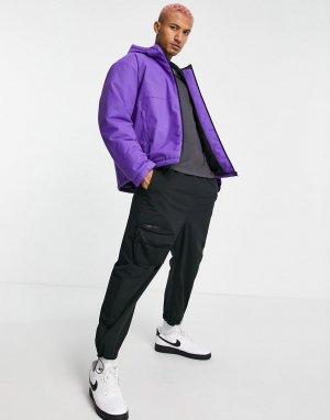 Фиолетовый утепленный дождевик свободного кроя -Фиолетовый цвет ASOS DESIGN