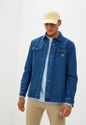 Рубашка джинсовая Lyle & Scott Denim Overshirt. Цвет: синий