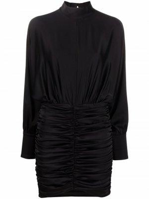 Драпированное платье с длинными рукавами Pinko. Цвет: черный