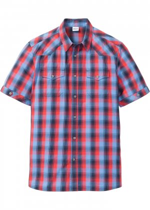 Рубашка с коротким рукавом bonprix. Цвет: красный