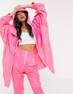 Свободная розовая ветровка -Розовый Nike