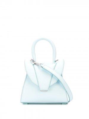 Структурированная сумка-тоут Elena Ghisellini. Цвет: синий