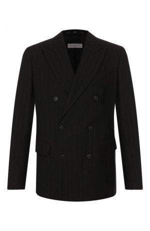 Пиджак из смеси хлопка и шерсти Dries Van Noten. Цвет: чёрный