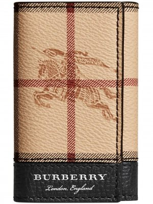 Футляр для ключей Haymarket Check Burberry. Цвет: нейтральные цвета