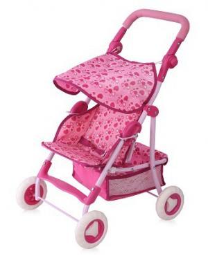 Коляска игрушечная bertoni spring. Цвет: розовый