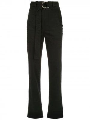 Прямые брюки Gloria Coelho. Цвет: черный