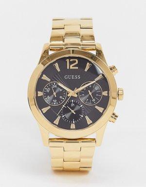 Золотистые часы с браслетом -Золотистый Guess