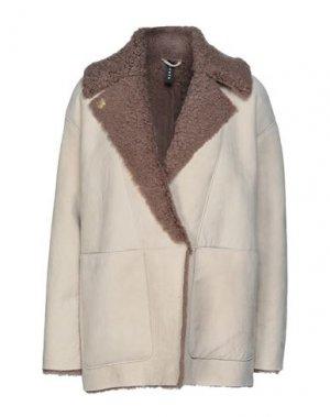 Пальто DACUTE. Цвет: светло-серый