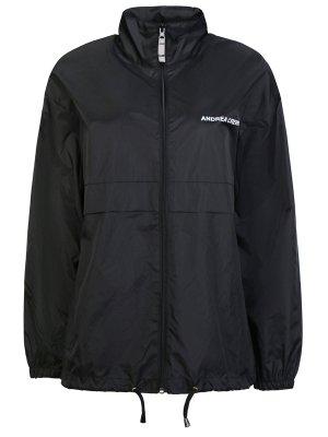 Куртка-ветровка ANDREA CREWS. Цвет: черный