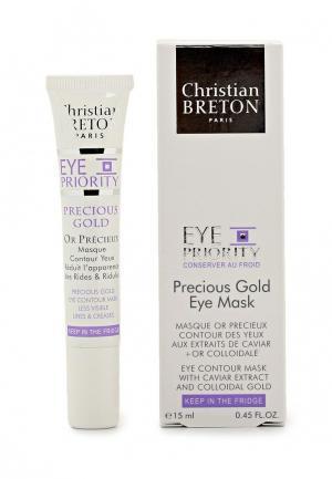 Маска для кожи вокруг глаз Christian Breton Paris Золотая драгоценность, 15 мл. Цвет: белый