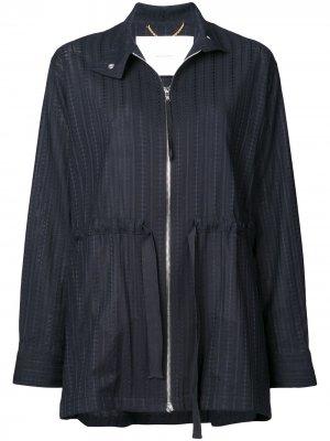 Куртка с завязками сбоку Adam Lippes. Цвет: синий