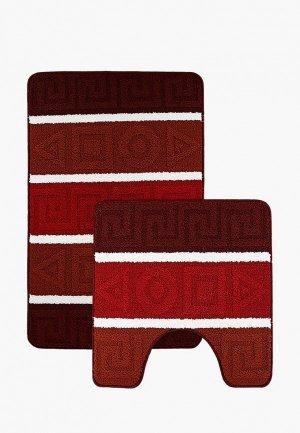 Комплект ковриков Tete-a-Tete. Цвет: бордовый