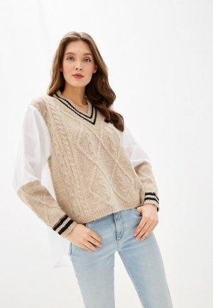 Пуловер Care of You. Цвет: разноцветный
