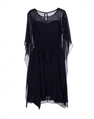 Короткое платье FIFILLES. Цвет: темно-синий