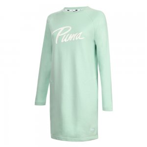 Платье Athletics Sweat Dress TR PUMA. Цвет: зеленый