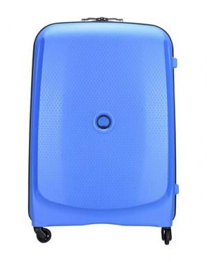 Чемодан/сумка на колесиках DELSEY. Цвет: лазурный