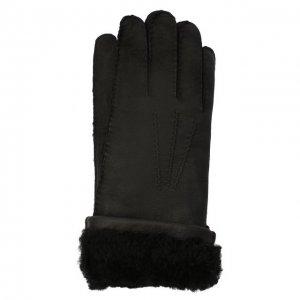Кожаные перчатки Dolce & Gabbana. Цвет: чёрный