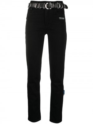 Прямые джинсы с поясом Off-White. Цвет: черный