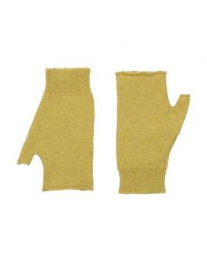 Перчатки ROBERTO COLLINA. Цвет: охра