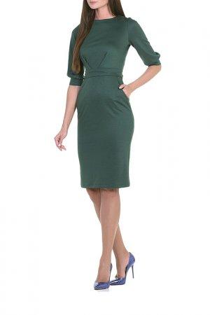 Платье Миди Alina Assi. Цвет: темно-зеленый
