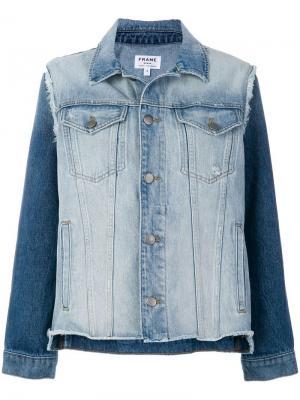 Джинсовая куртка с необработанными краями Frame Denim. Цвет: синий