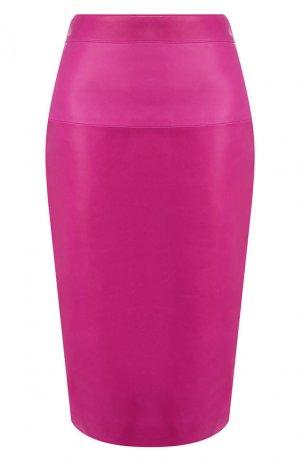 Кожаная юбка Tom Ford. Цвет: фуксия