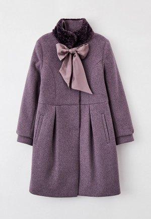 Пальто Mamma Mila!. Цвет: фиолетовый