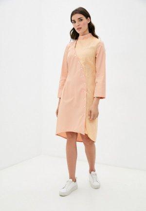 Платье Adzhedo. Цвет: оранжевый