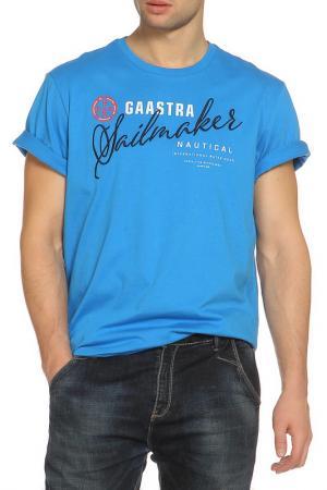 Футболка Gaastra. Цвет: голубой
