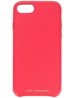 Чехол для iPhone 8 Pimp Your Phone Anya Hindmarch. Цвет: розовый