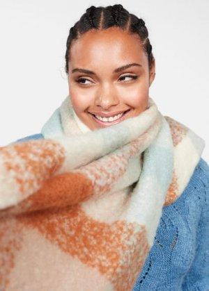 Макси-шарф в клетку - Blanca Mango. Цвет: экрю