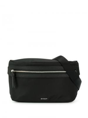 Поясная сумка на молнии Donna Karan. Цвет: черный