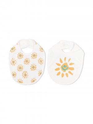 Two-pack sun-print bibs Stella McCartney Kids. Цвет: нейтральные цвета