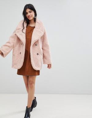 Пальто из плюша -Розовый Deby Debo