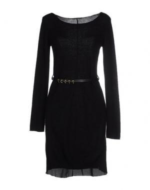 Короткое платье ATOS LOMBARDINI. Цвет: черный