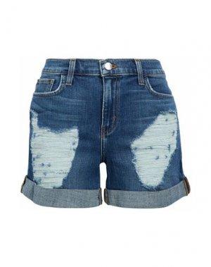 Джинсовые шорты L'AGENCE. Цвет: синий