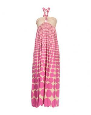 Длинное платье AGOGOA. Цвет: фуксия