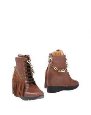 Полусапоги и высокие ботинки DSQUARED2. Цвет: какао