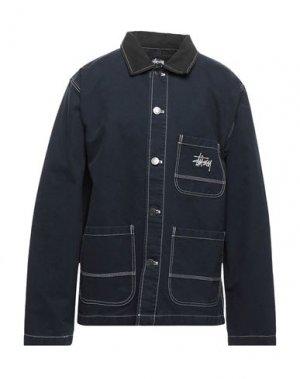 Куртка STUSSY. Цвет: темно-синий