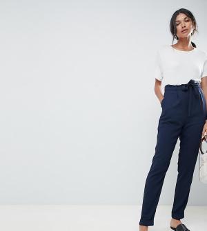 Брюки галифе с поясом оби ASOS DESIGN Tall-Темно-синий Tall