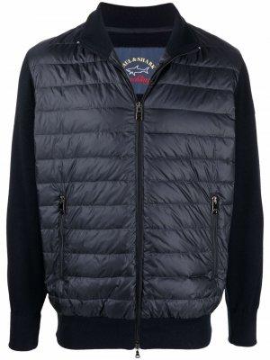Куртка-пуховик на молнии Paul & Shark. Цвет: синий