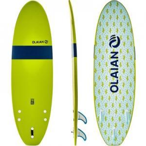 Детская Доска Для Серфинга Softboard 100 6 В Комплект Входят Лиш И Плавники. OLAIAN