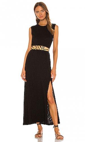 Платье миди ATM Anthony Thomas Melillo. Цвет: черный